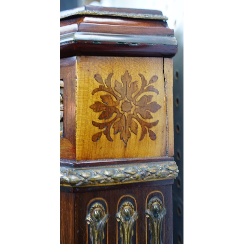 A 19th century French gilt metal mounted marquetry and parquetry inlaid mahogany secretaire, with... Image