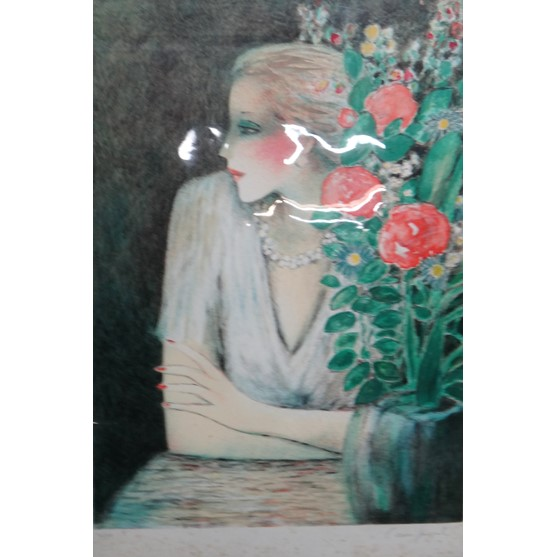 Jean-Pierre Cassigneul (French b.1935), The roses colour lithograph, signed 20/200 64cm x 46cm;... Image