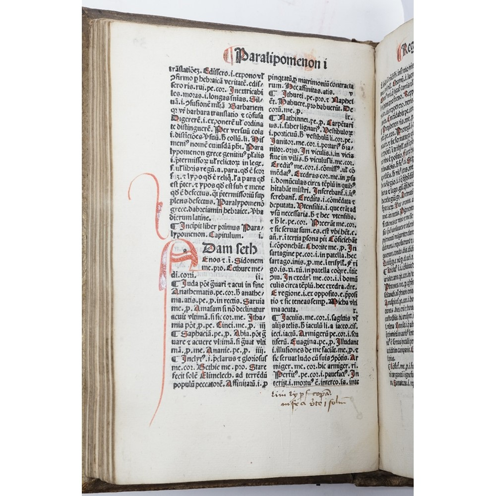 INCUNABLE - [John MARCHESINUS (late 13th-early 14th-century).  Mammotrectus super Bibliam.]... Image