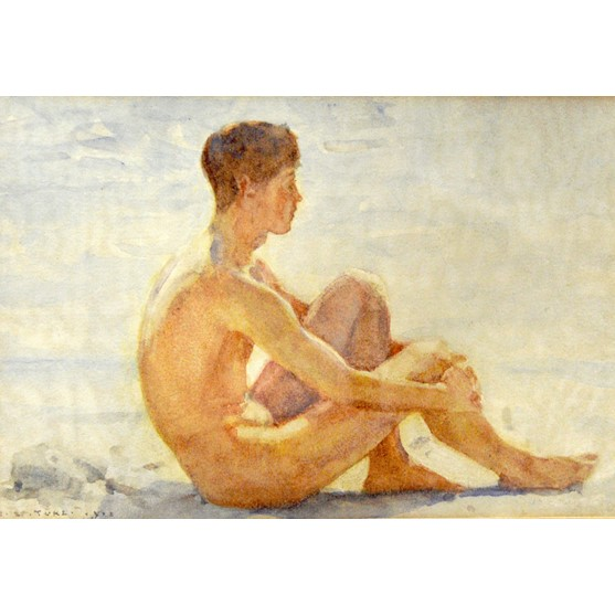 Henry Scott Tuke (1858-1929), Youth on... Image
