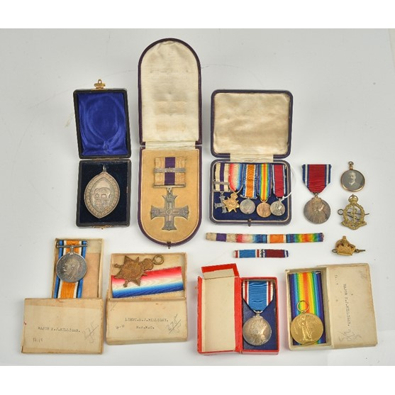 The First World War and later awards to Major Henry Joseph Milligan Royal Army Medical Corps,... Image