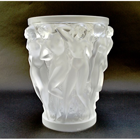 A Lalique 'Bacchantes' clear and frosted... Image