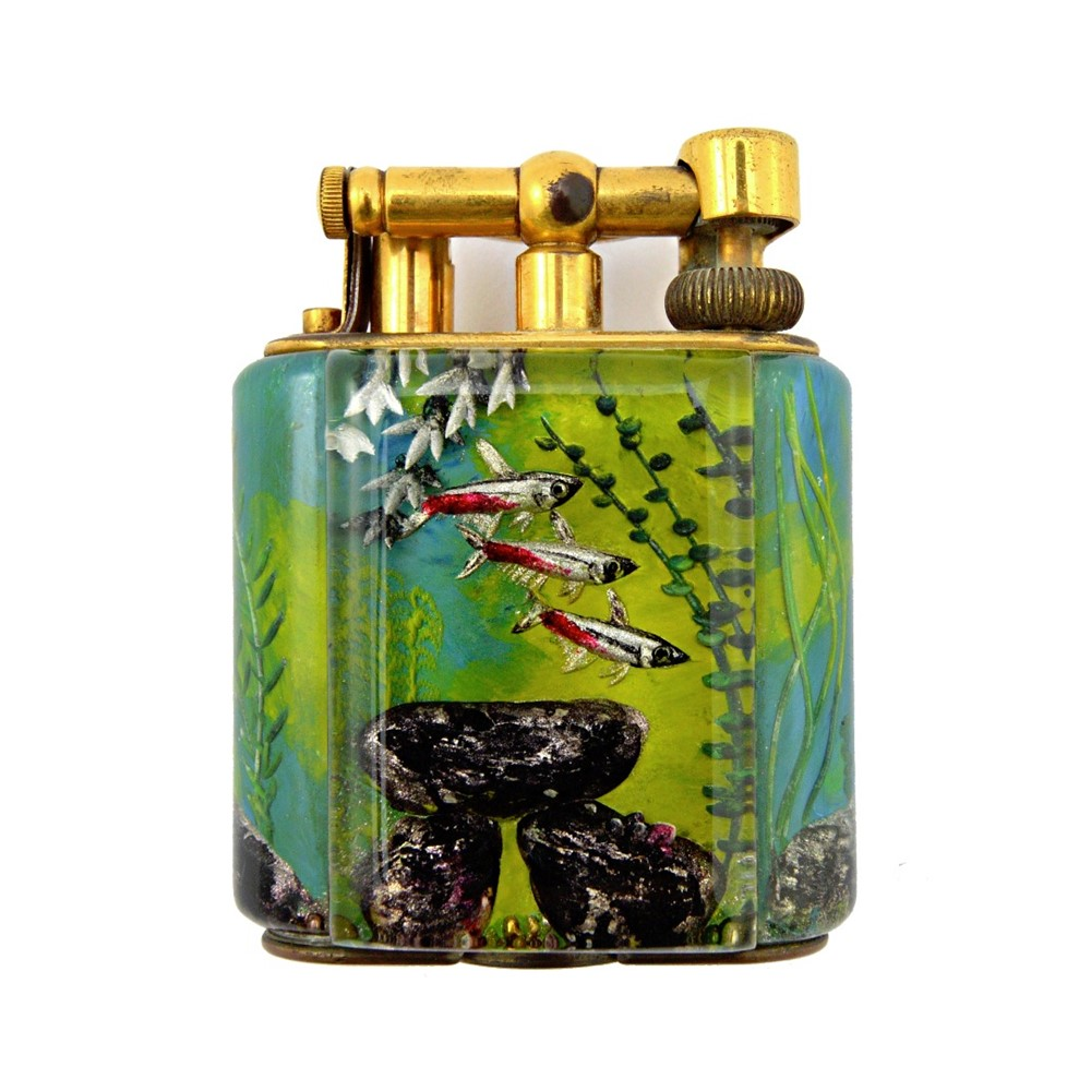 A Dunhill 'Aquarium' table lighter of... Image