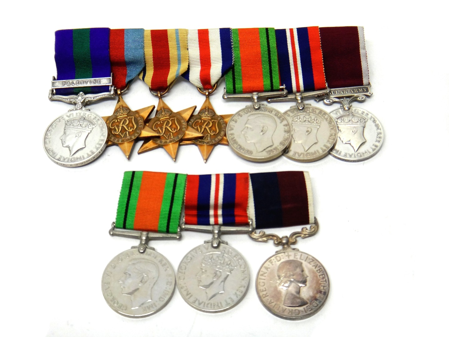 Three groups of medals, mostly Second... Image