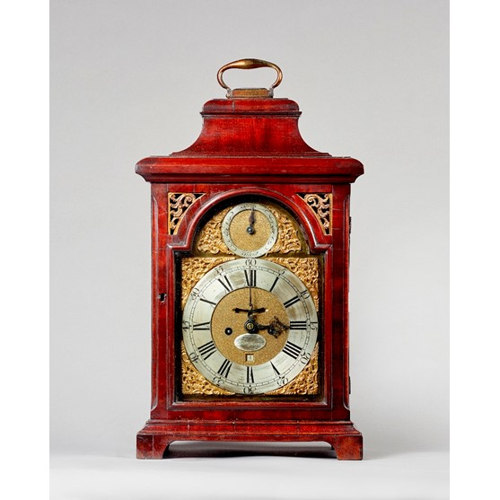 A George III mahogany bracket clock By... Image