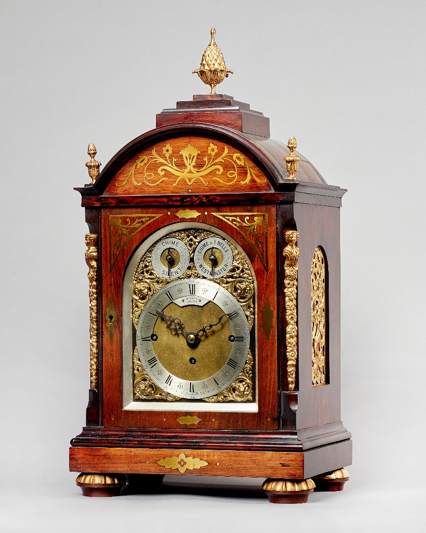 A Victorian rosewood and cut-brass... Image