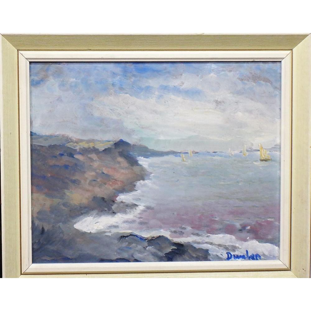 Ronald Ossory Dunlop (1894-1973), Coastal scenes, two, one oil on board, one oil on canvasboard,... Image