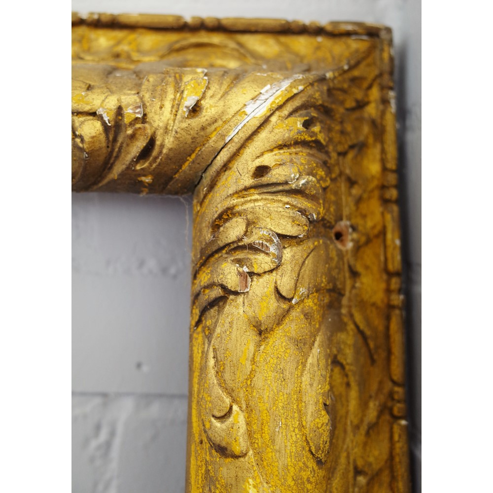 James Peak; a large rectangular gilt gesso picture/ mirror frame with acanthus moulded... Image