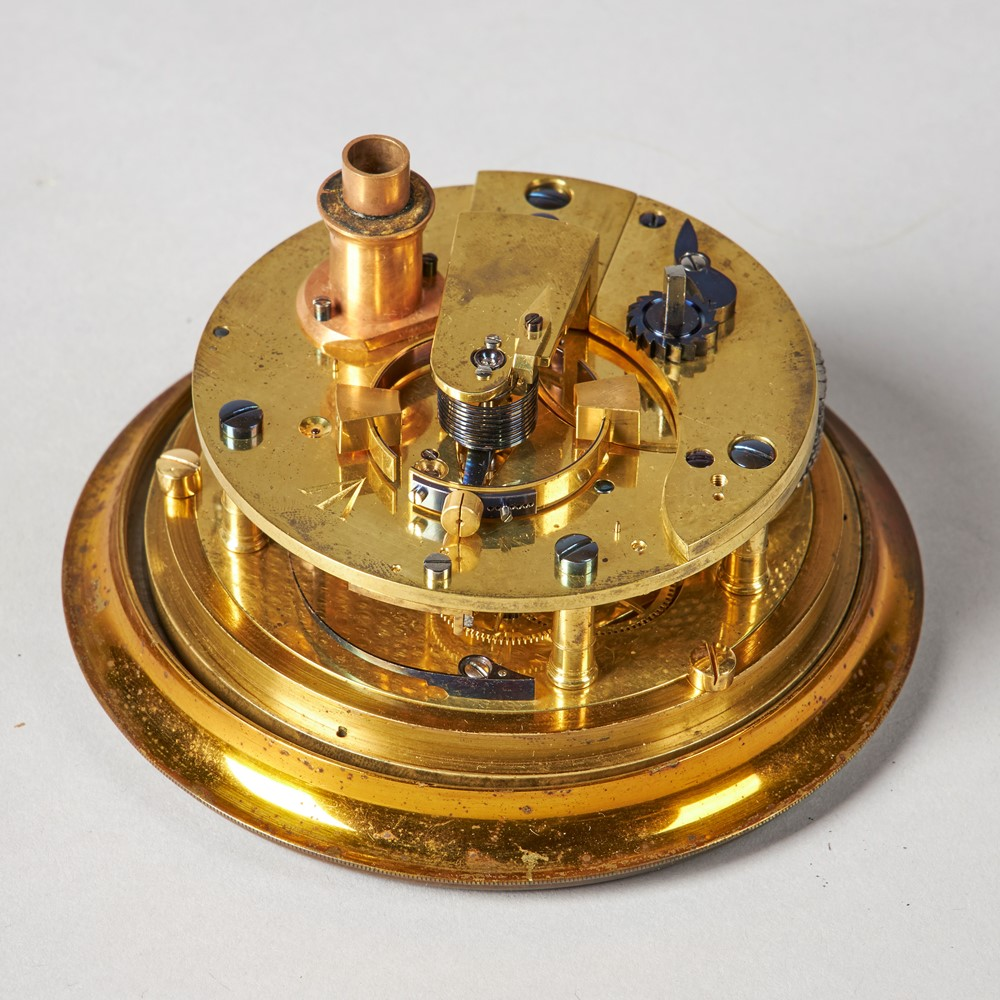A HISTORICALLY INTERESTING BRASS-BOUND ROSEWOOD TWO-DAY MARINE CHRONOMETER WITH AUXILLARY... Image
