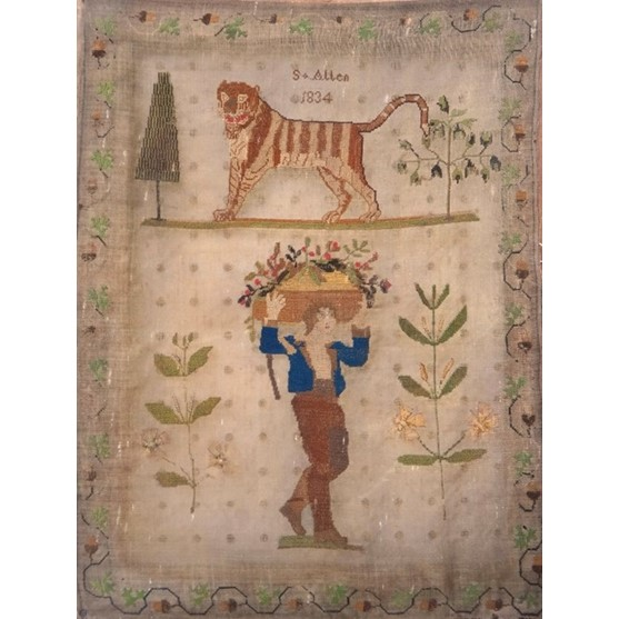 A Victorian needlework sampler by S.... Image