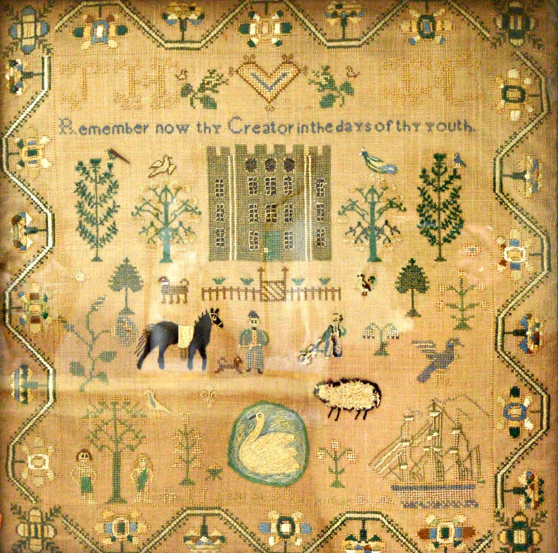 A Victorian needlework sampler by... Image