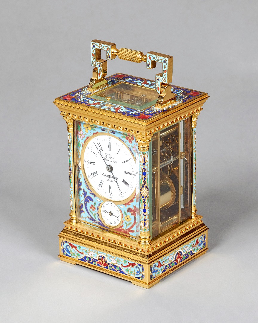 A French gilt brass and cloisonné enamel... Image