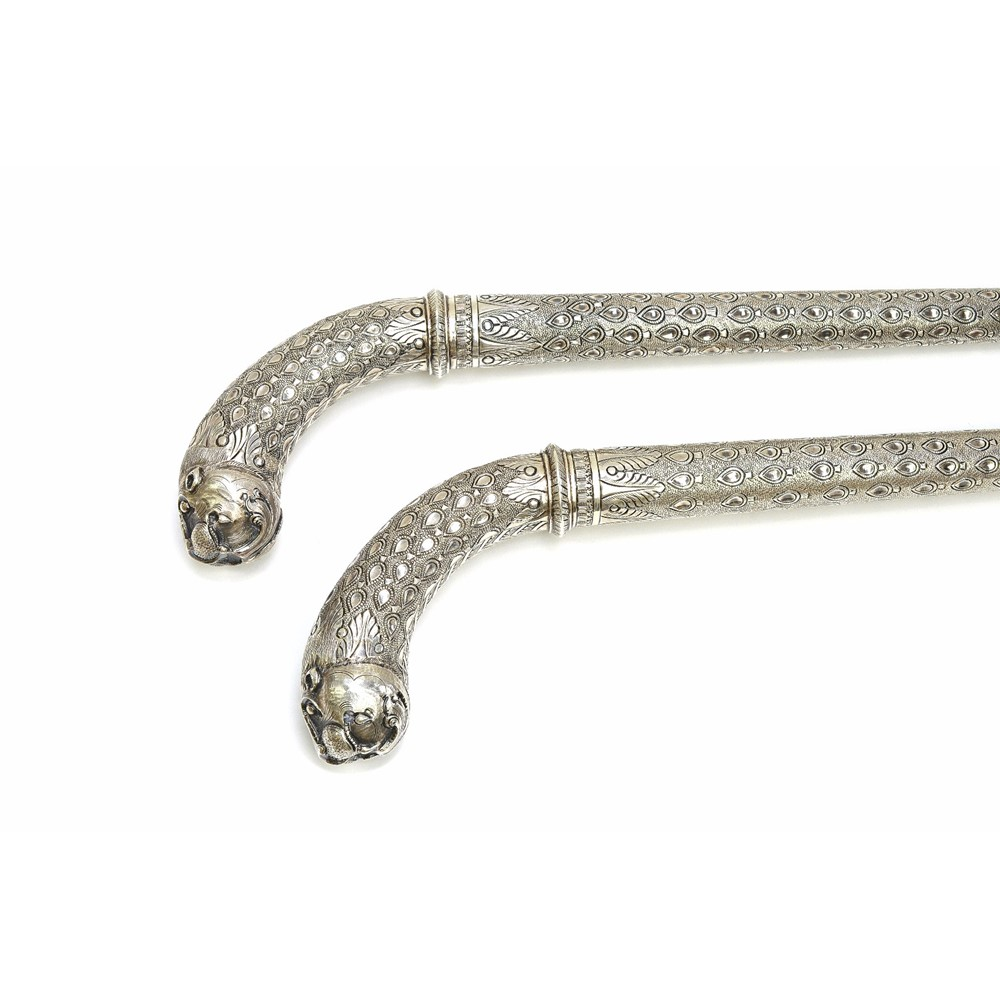 A pair of Indian white metal Choba... Image
