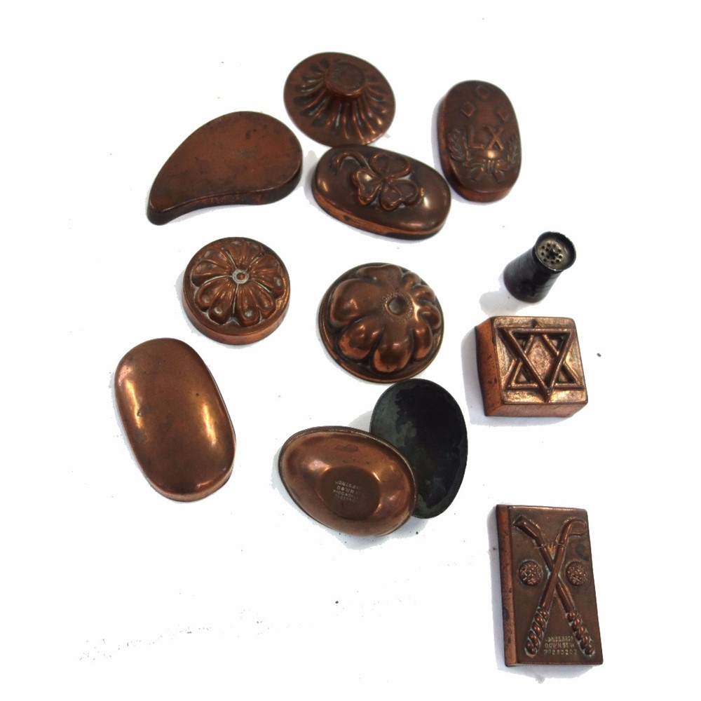 Nine Victorian miniature copper... Image