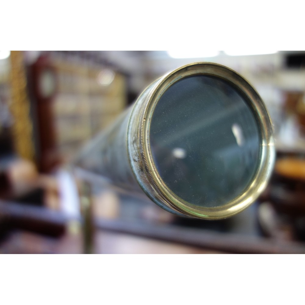 A Ramsden 3 inch brass telescope, 19th... Image
