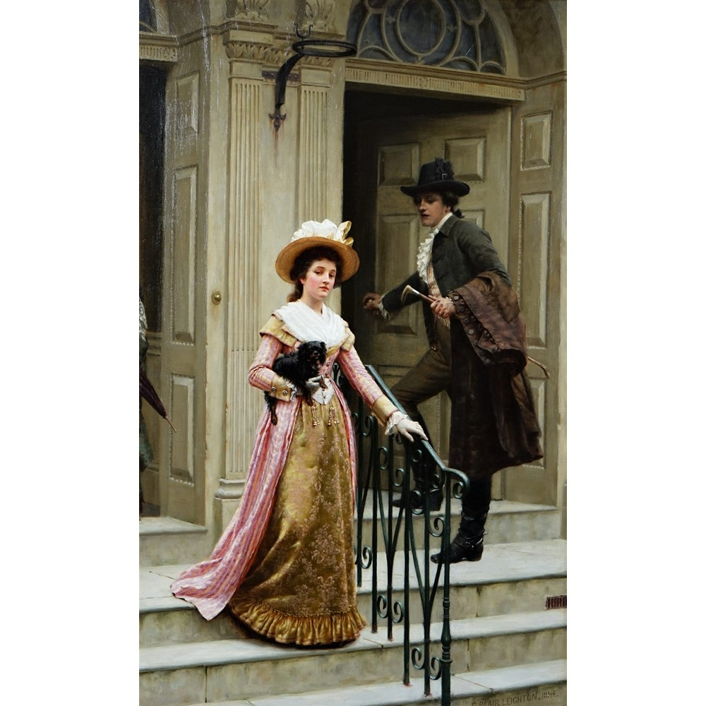 Edmund Blair Leighton (British, 1852-1922), My Next Door Neighbour, signed and dated 'E Blair... Image