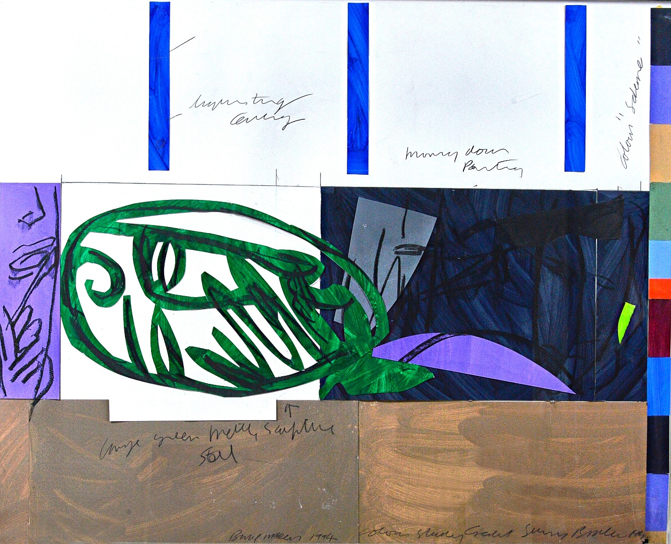Bruce McLean (b.1944) Large Green metal... Image