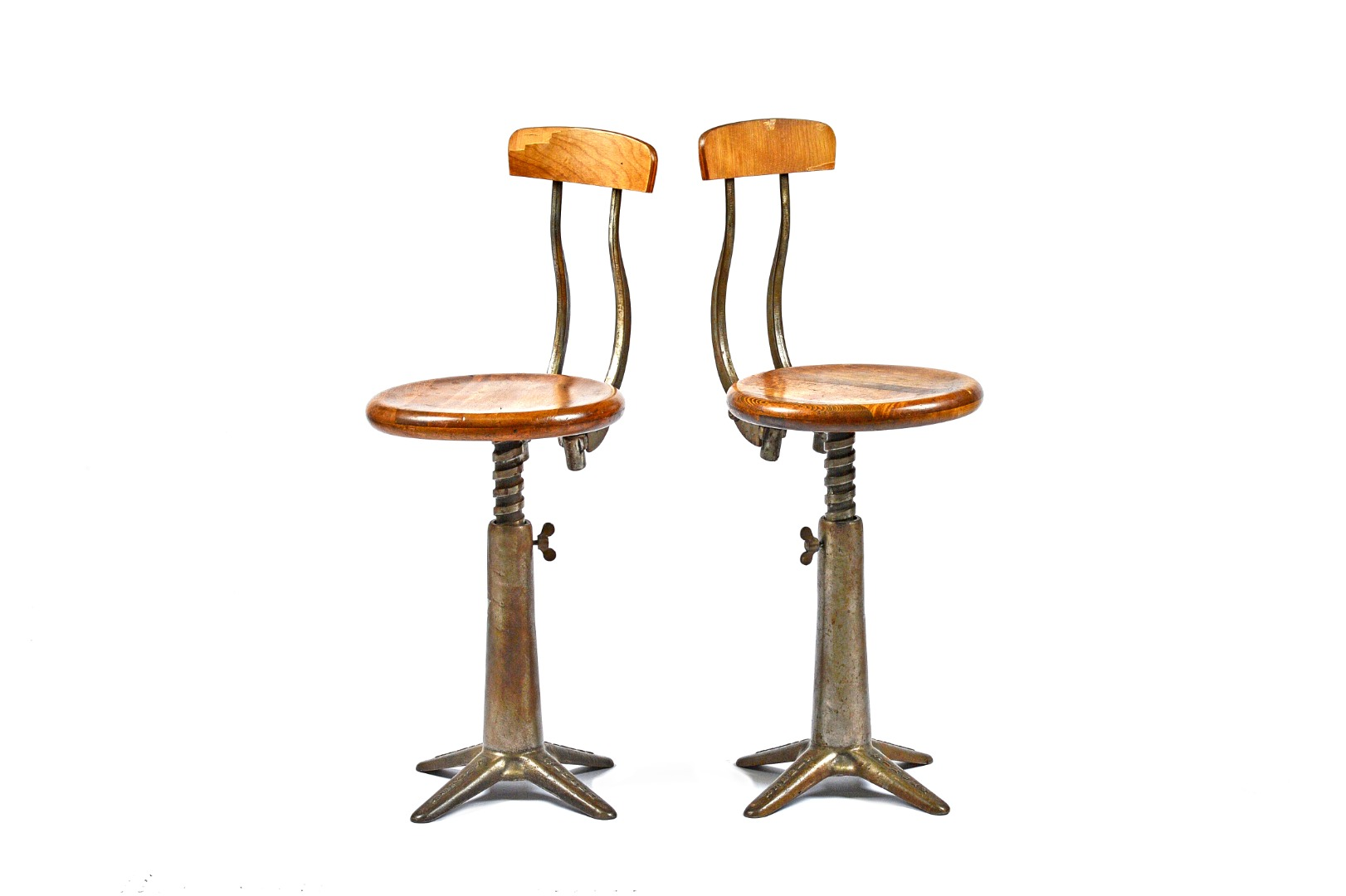 SINGER; a pair of 20th century beech and... Image
