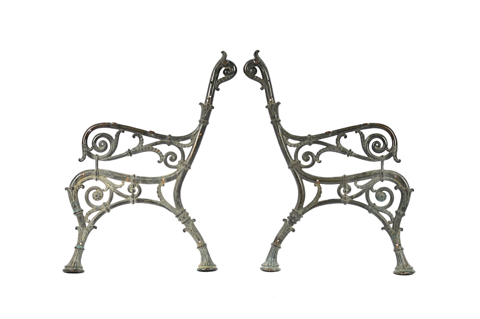 A pair of late 19th century cast bronze... Image