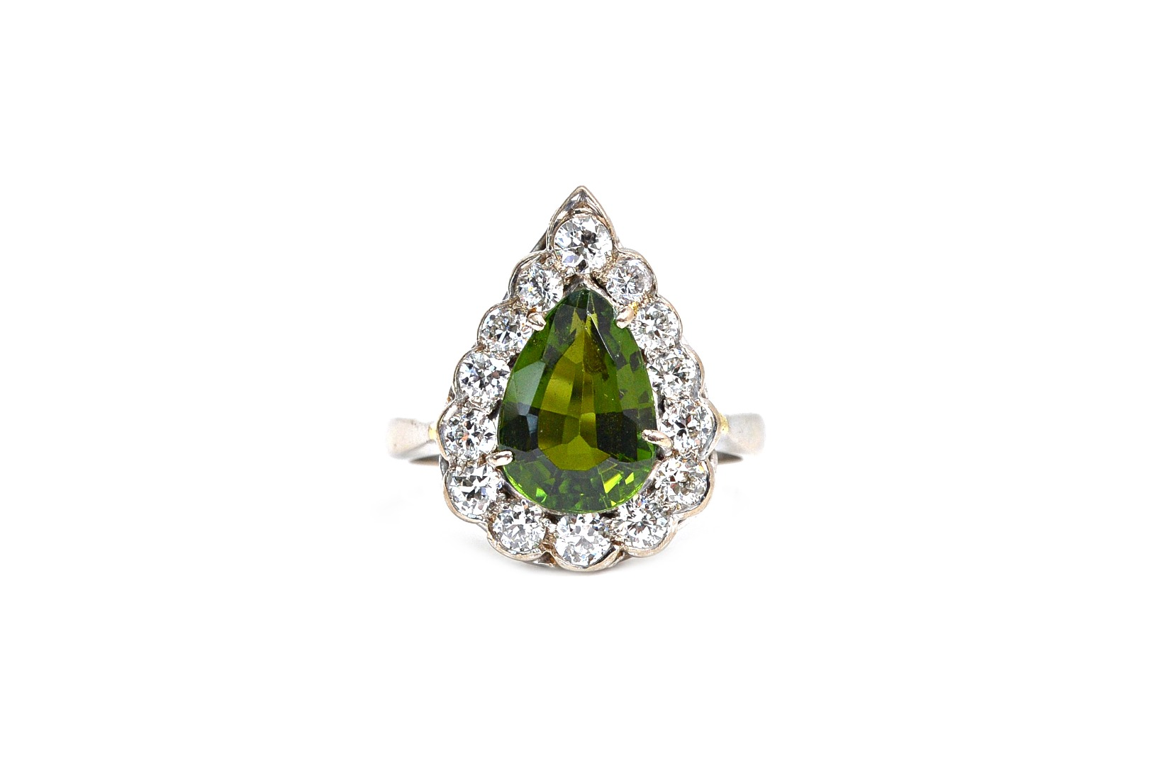 A white gold, green tourmaline and... Image
