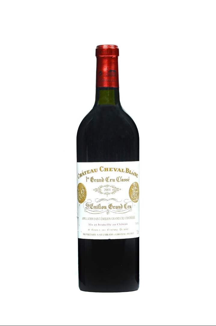 One bottle 2001 Chateau Cheval Blanc St... Image