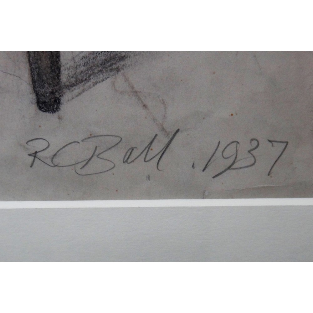 Robin Ball (1910-1979), Fulham, pencil and crayon, signed and dated 1937, 48.5cm x... Image