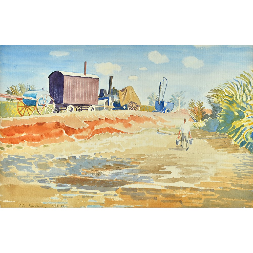 Eric Ravilious (1903-1942), Drought, watercolour, signed and dated Sept '33, 30cm x... Image