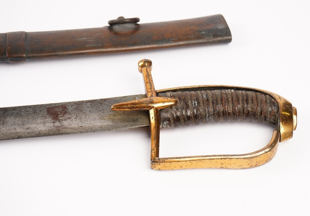A French Hussar trooper's sabre, 1777-1802, with regulation Klingenthal blade and associated... Image