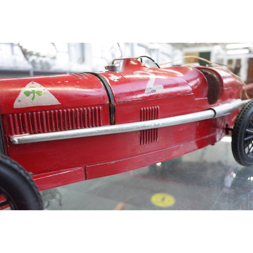 Alfa Romeo P2 tinplate toy car by C.I.J. (Compagnie Industrielle du Jouet) France, Circa 1930,... Image
