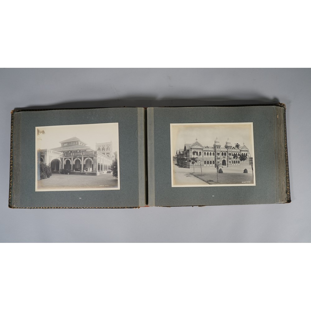 PHOTOGRAPH ALBUMS:  India, a group of three albums, ca. 1920s, 'Baroda Views'. 72pp. ex 76pp., 74... Image