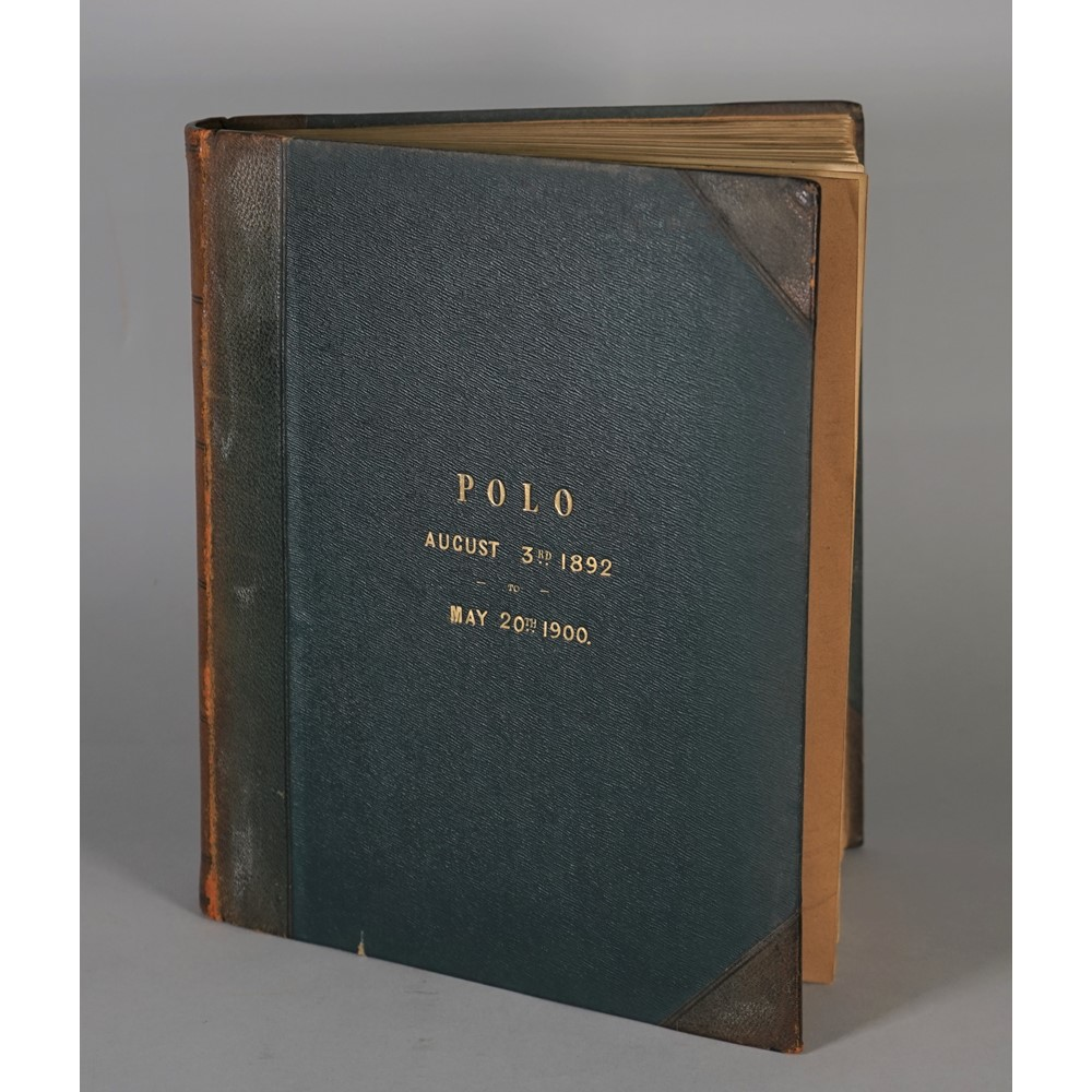 ALBUM - POLO:  The Stansted Polo Club, Bishops Stortford, Hertfordhsire;  a leather and calf... Image