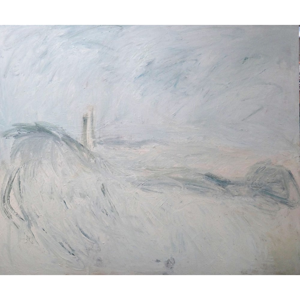 Richard Cook (b.1947), Winter Solstice, oil on canvas, signed on reverse, unframed, 152cm x... Image
