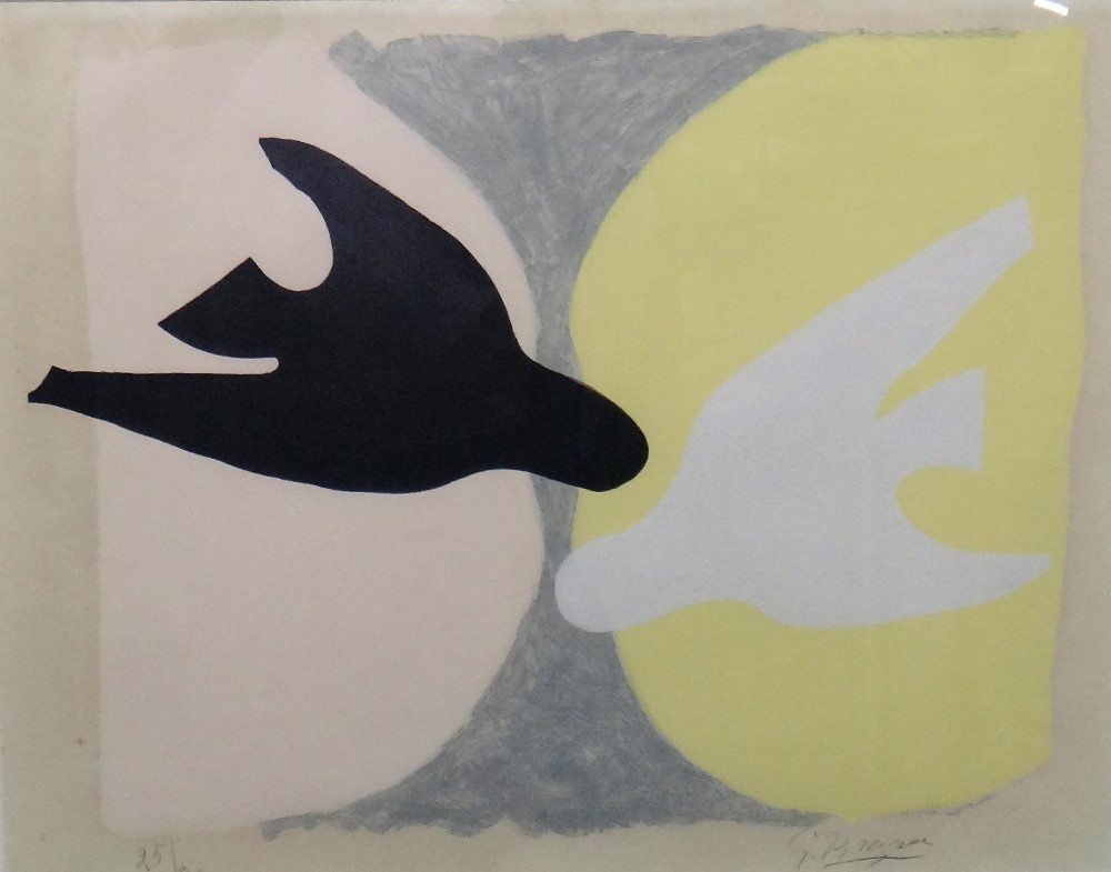 Georges Braque (French, 1882-1963), L'Ordre des oiseaux, etching with aquatint and printed in... Image