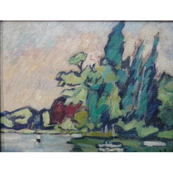 Louis Valtat (French 1869-1952), Bois de Boulogne, oil on canvas, signed, 25cm x 33cm. ARR Image