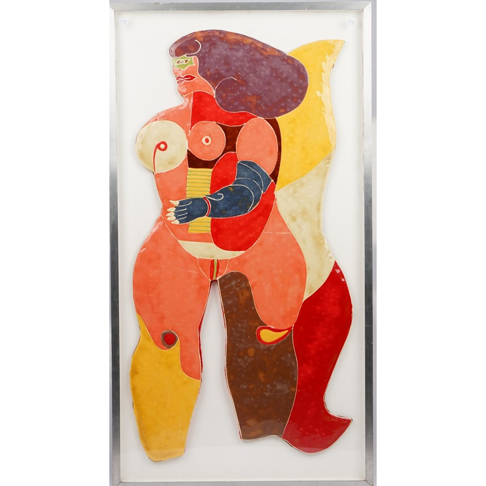 Richard Lindner (1901-1978), Busenengal, mixed media, gingerbread and colourful icing panel,... Image