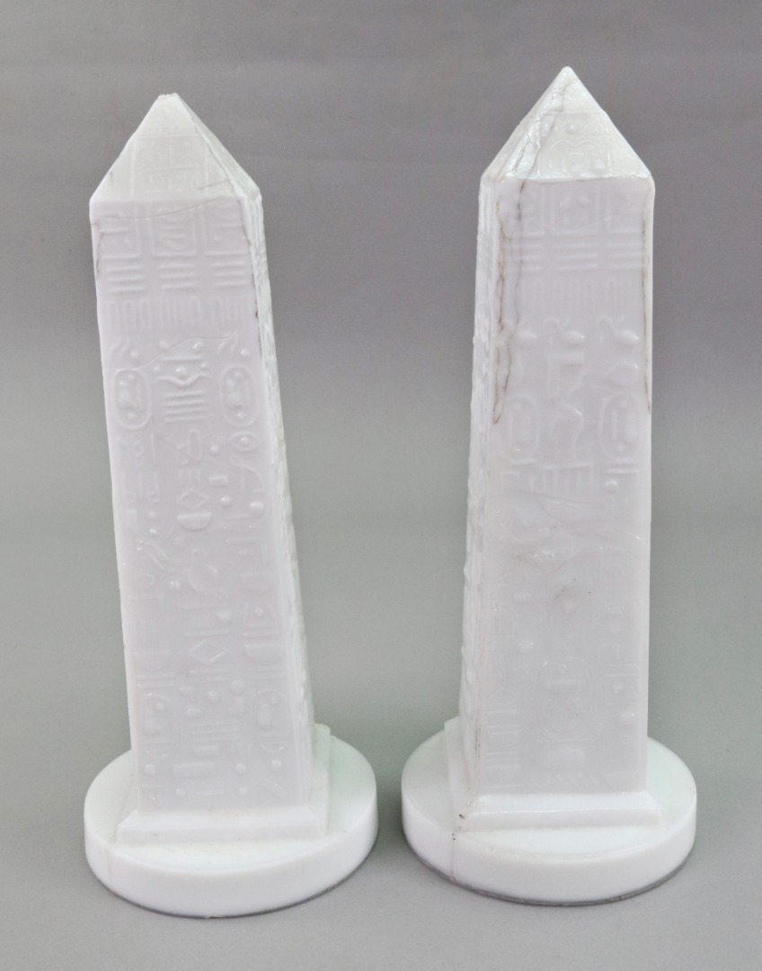 A pair of Victorian white pressed glass... Image