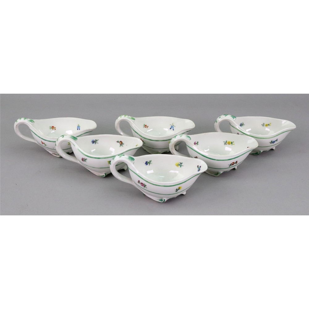 A set of six Vienna porcelain small oval... Image