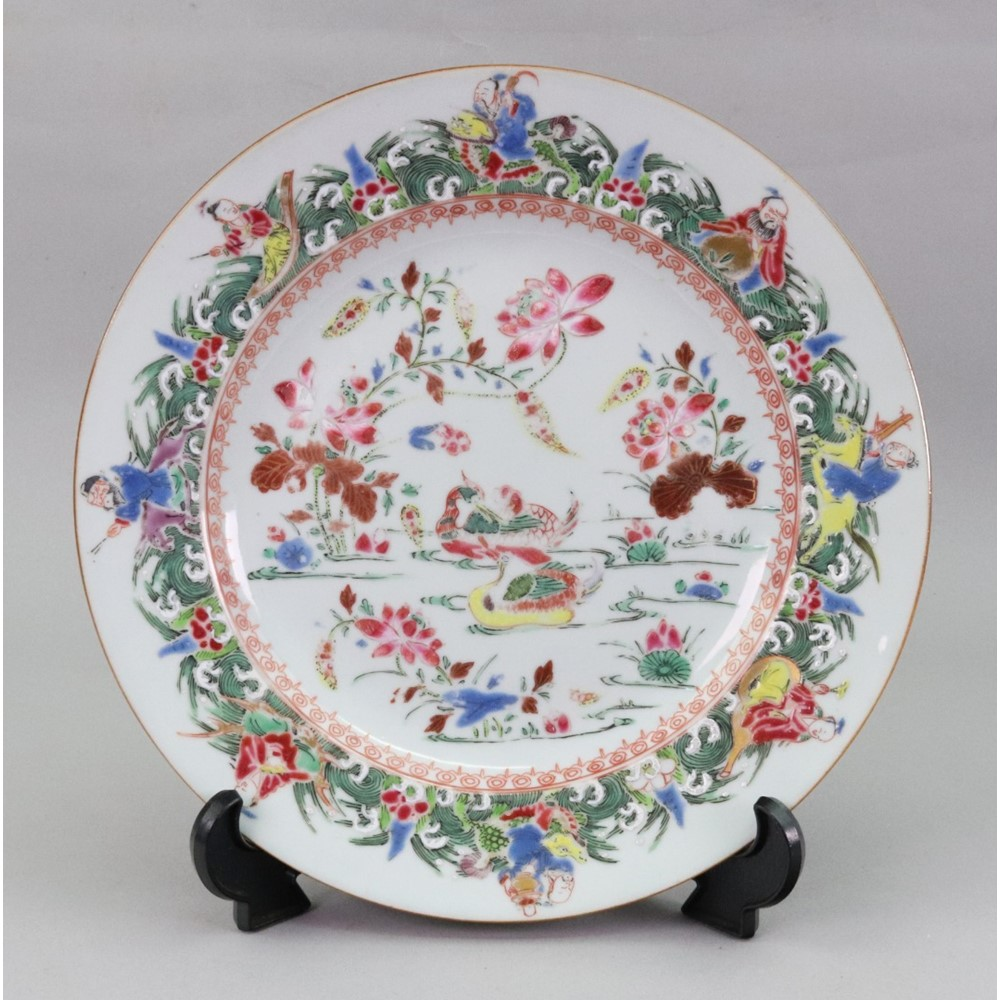 A Chinese famille rose plate, Qianlong,... Image
