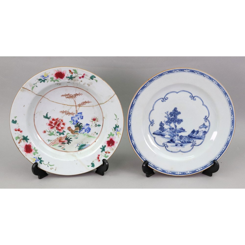 A group of six Chinese Export plates,... Image
