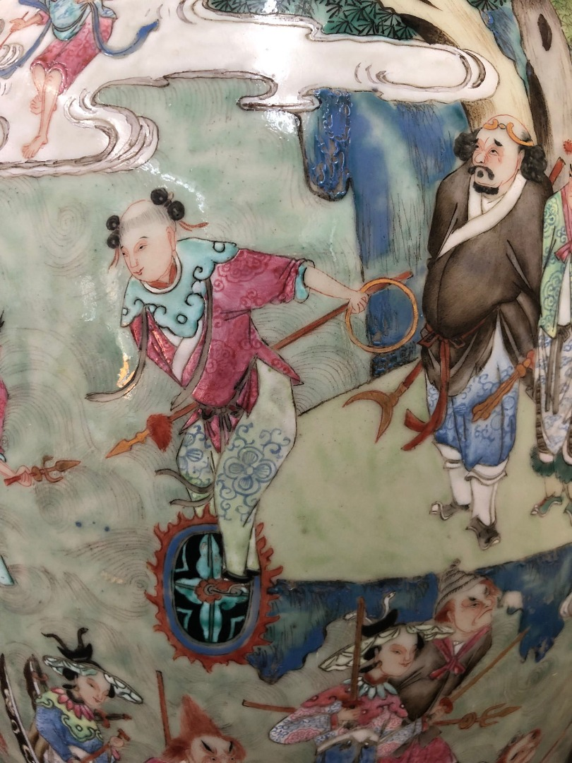 A large pair of Chinese famille rose two... Image
