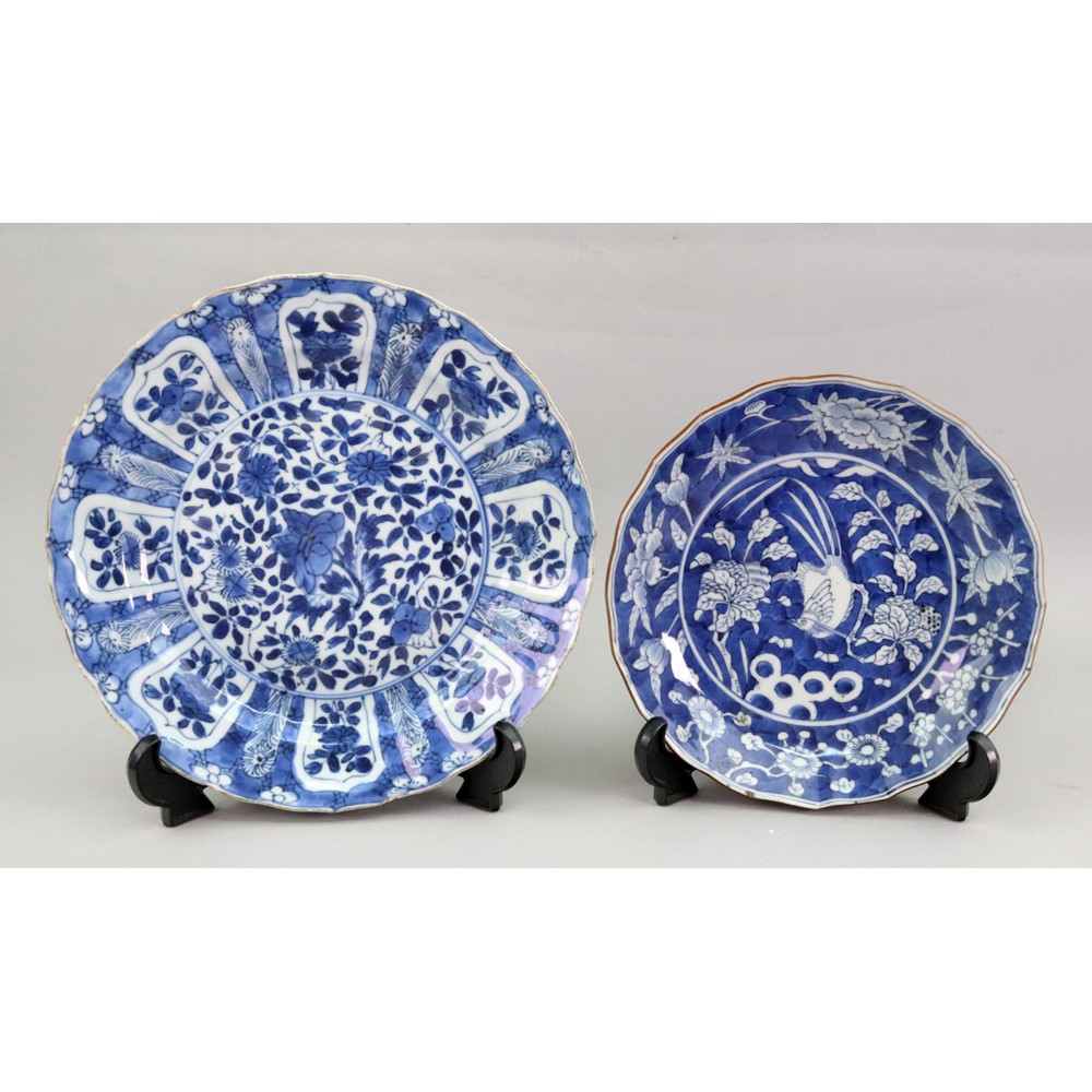 A Chinese blue and white plate, Kangxi,... Image