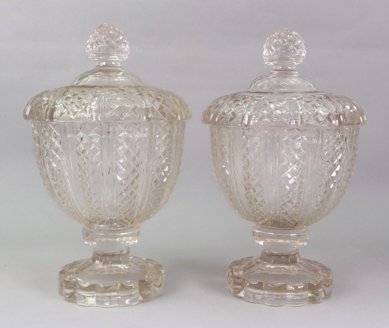 A pair of Victorian glass jars and... Image