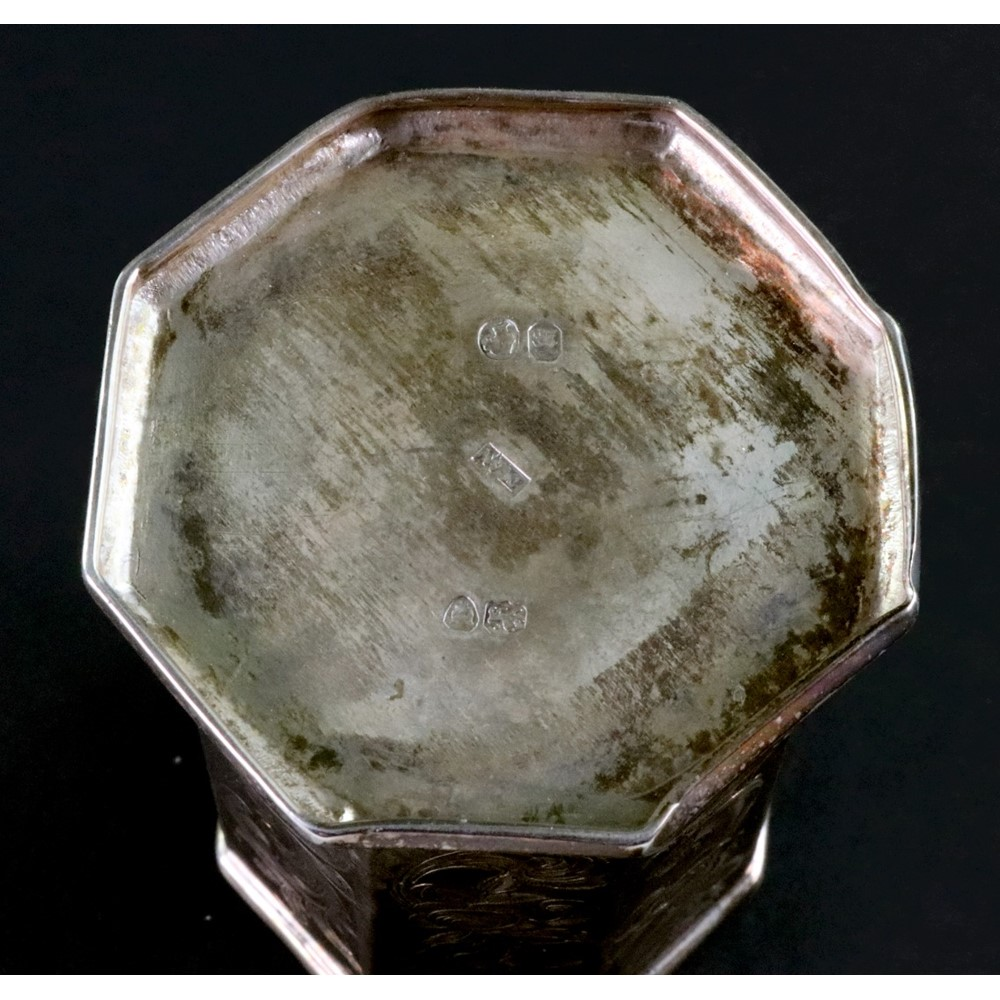 A Victorian silver octagonal christening... Image