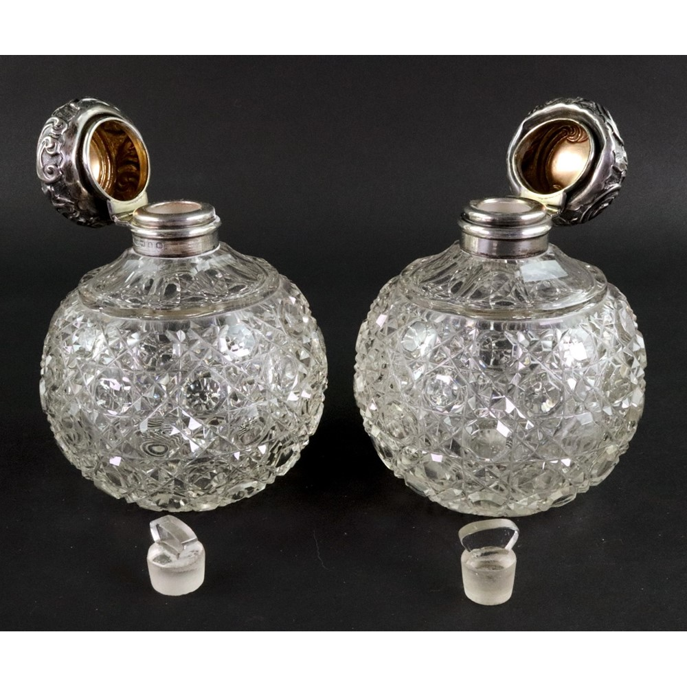 A pair of late Victorian silver mounted... Image