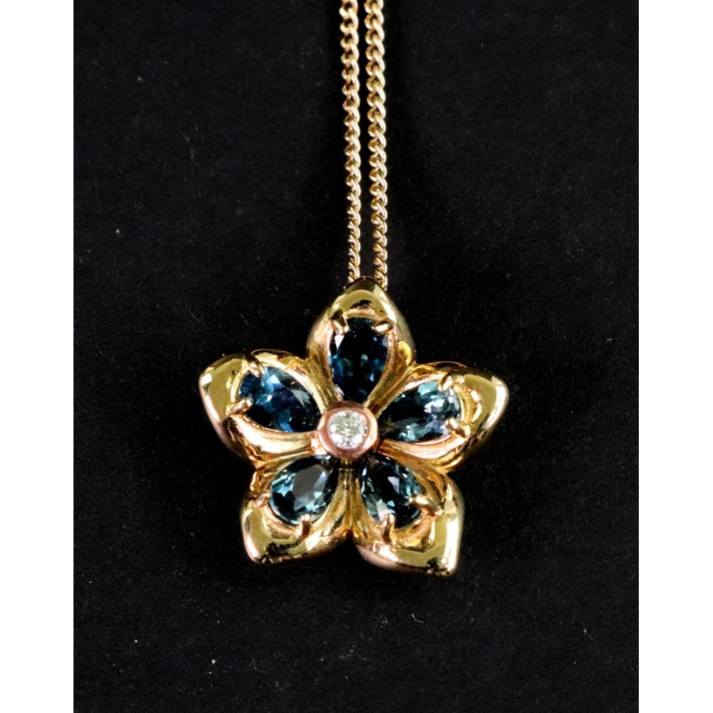 A Cloggau Welsh gold, blue topaz and... Image
