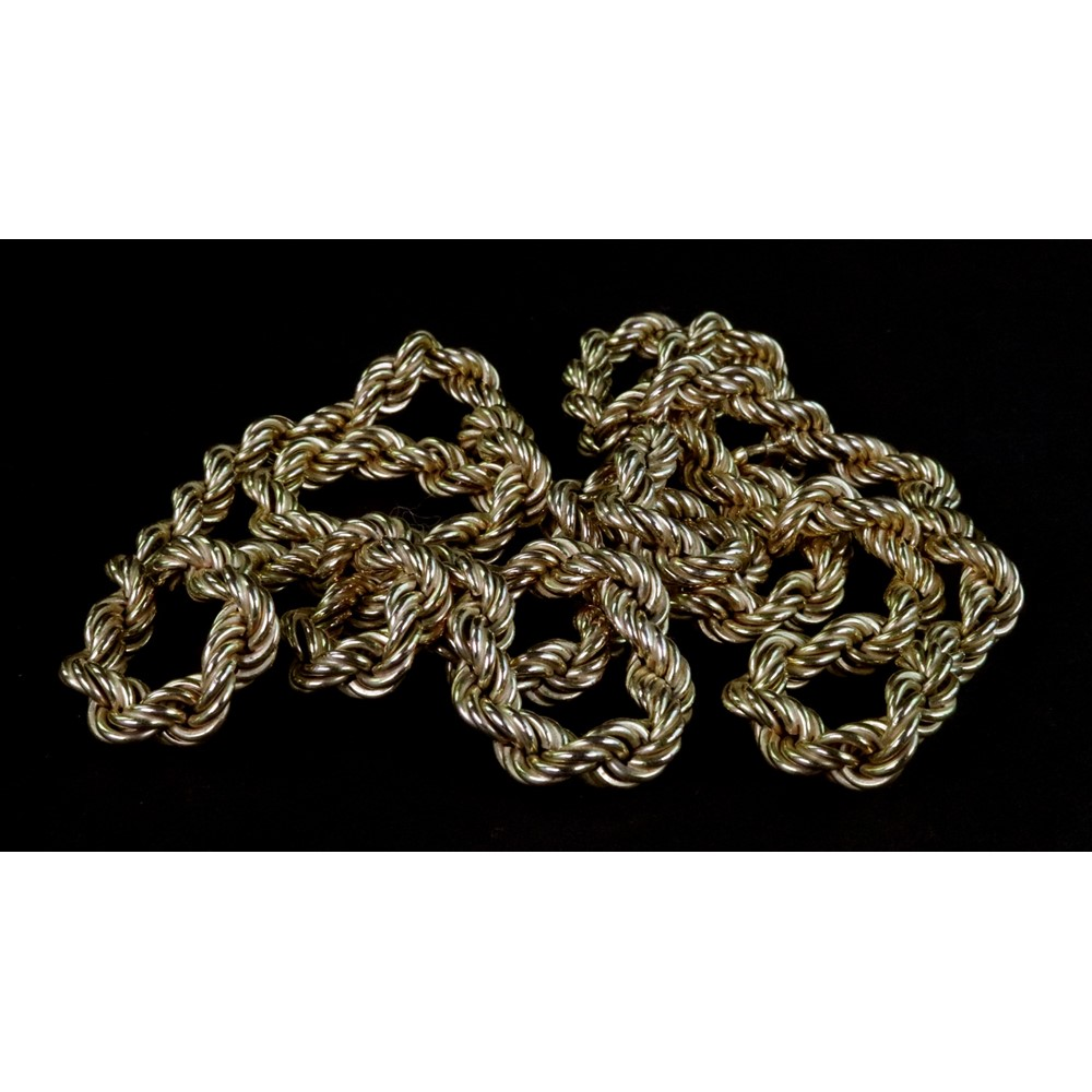 A modern Italian 9ct gold hollow-rope... Image