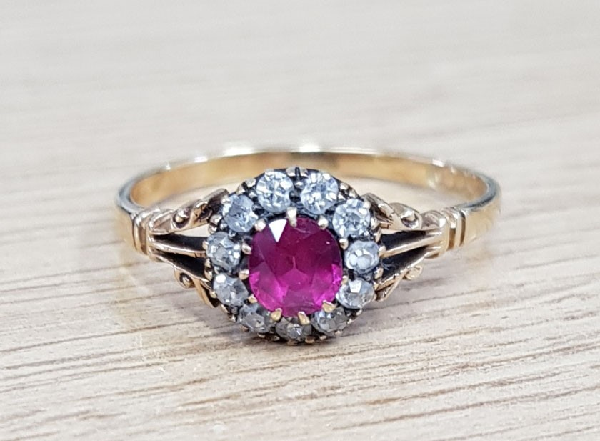 An early 20th century gold, ruby and... Image