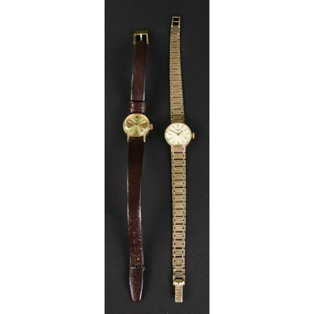 Longines, two lady's 9ct gold cased... Image