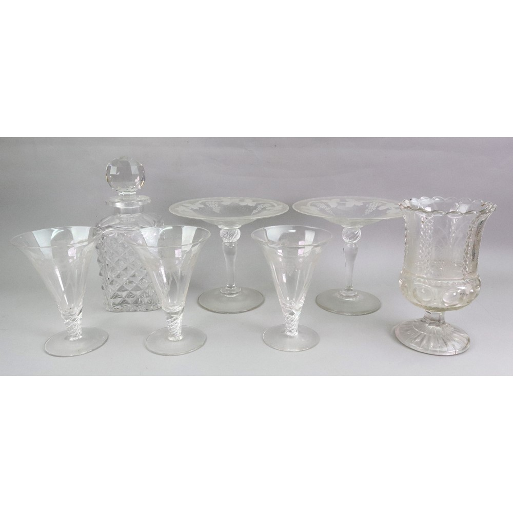 A pair of glass comports, late... Image