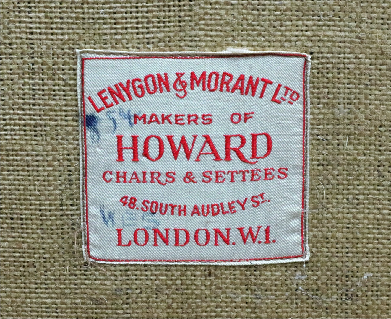 Howard and Sons; an upholstered three... Image